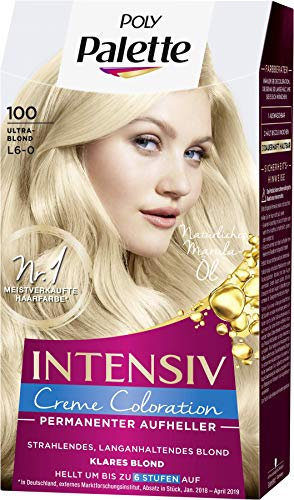 SCHWARZKOPF POLY PALETTE Intensiv Creme Coloration 100/L6-0 Ultrablond, 3er Pack (3 x 128 ml)