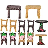 DOITOOL 4 Sets Fairy Garden <span class='highlight'>Furniture</span> Ornaments Miniature Table and Chairs Set Fairy <span class='highlight'>Village</span> Figurine for Dollhouse Accessories Home Micro Landscape Decoration