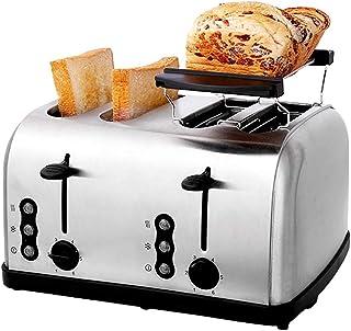 LITINGT Grille-pain à 4 tranches - Grille-pain en acier inoxydable (avec plaque de cuisson, 6 réglages d'ombre à pain, fon...