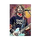 Dave Grohl - Póster de cantante de guitarra y roca para pared (20 x 30 cm)