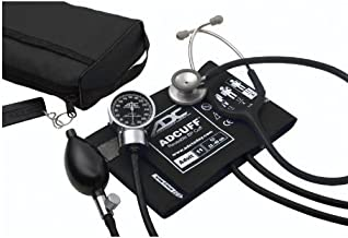 ADC Pro's Combo III Adult Pocket Aneroid/Clinician Scope Kit with Prosphyg 778 Blood Pressure Sphygmomanometer and Adscope 603 Stethoscope with Carrying Case, Black