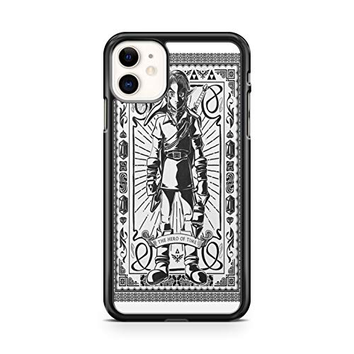 Générique - Carcasa rígida para iPhone 5, 5S y iPhone Se The Legend of Zelda Ocarina of Time Link, color negro