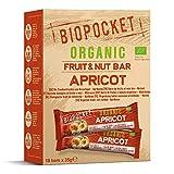Biopocket - Barritas ecológicas de fruta y frutos secos, sabor albaricoque (18 unidades de 35 g)