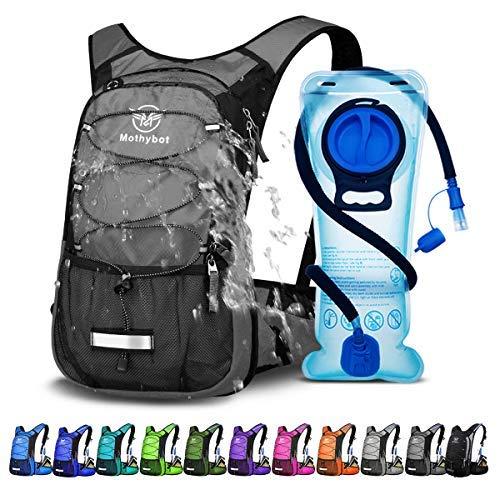 Mothybot Trinkrucksack 2L, Trinkrucksack mit Trinkblase Leichte Isolierung Trinkrucksack zum Laufen Wandern Reiten Camping Radfahren Klettern Passt Männer & Frauen