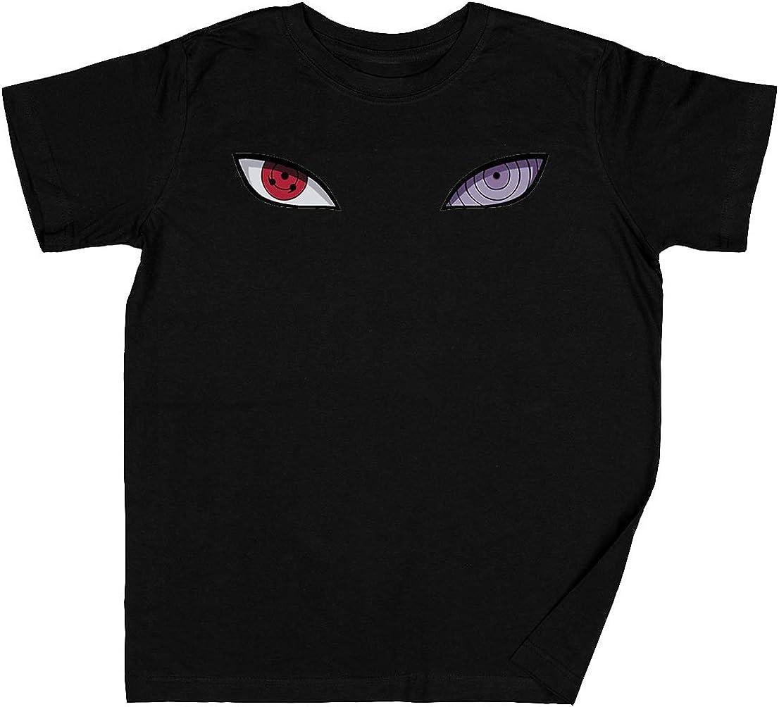 Sharingan Ojos Negro Niños Chicos Chicas Camiseta Unisexo Grey Kid's Boys Girls tee