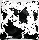 Tierfell- Dekokissen Animal Print, groß, Kunstfell, Material: 100 % Polyester, Maße: 47 x 47 cm,...