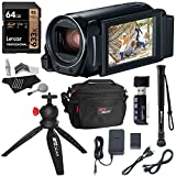 Canon Vixia Hf R800 A Camcorder Kit, Lexar 64GB U3 Class 10 SD Card, Lowepro Bag, Cleaning Kit, Ritz Gear Card...