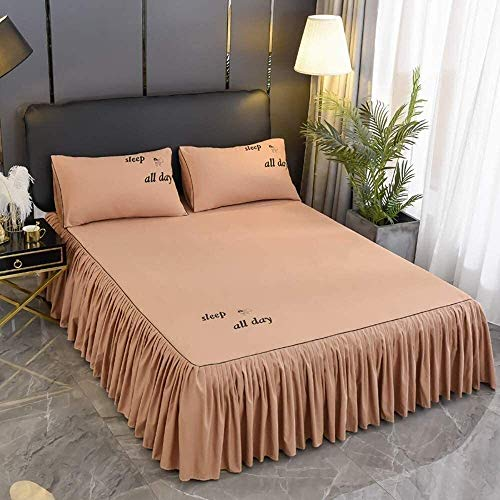 Bett Rock Chic dunkler Ruffle Rock Bedscread Set Matratze Bettabdeckung Bettrock...
