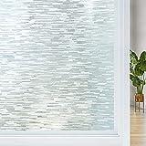 Película para Ventanas Película de la ventana No adhesivo UV Bloqueo removible Cubierta de vidrio removible Etiqueta de ventana opaca Self estático Abrilla de vidrio de vidrio ( Size : 45x300cm )