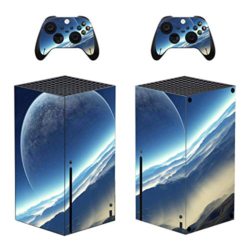 Cananmite Stay Sky Skin Sticker für Xbox Series X Konsole und Controller (XBOX nicht im Lieferumfang enthalten) (Grün)