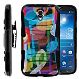 TurtleArmor | Compatible with Samsung Galaxy Mega Case | Mega 6.3 Case [Hyper Shock] Heavy Impact Proof Silicone Case Kickstand Belt Clip Holster Music - Colorful Music