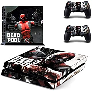 CloudSmart Deadpool Sony Playstation 4 Skin Sticker Vinyl Stickers for PS4 Console x1 Controller Skins x2