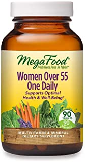 MegaFood, Women Over 55 One Daily, Supports Optimal Health and Wellbeing, Multivitamin and Mineral Dietary Supplement, Veg...