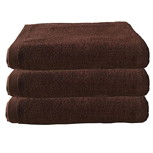jinrun Toallas baño Conjunto de Toallas de baño 100% algodón de 3 súper absorbentes - Toallas de baño Suaves y lujosas. Bath Sheet