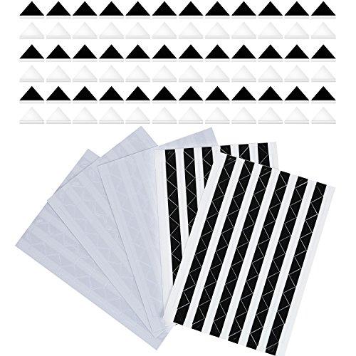 510 Piezas Esquinas de Foto Autoadhesivas (Negro y Transparente)