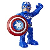ICONIC MARVEL CHARACTER: Boys and girls can create their own exciting, superpowered adventures with this fun 5-inch Captain America action figure, inspired by the Marvel entertainment SHIELD ACCESSORY: This Marvel Super Hero figure comes with a fun a...