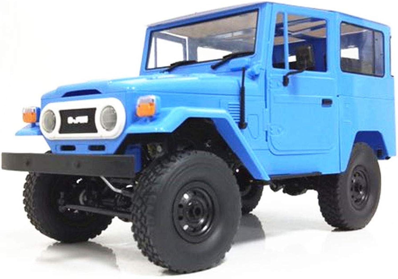 6SHINE WPL C34K 1 16 Kit 2.4G 4WD Wireless Kids RC Car Toy Transmitter Charger Climbing(34.5x15.2x17.9CM,bluee)