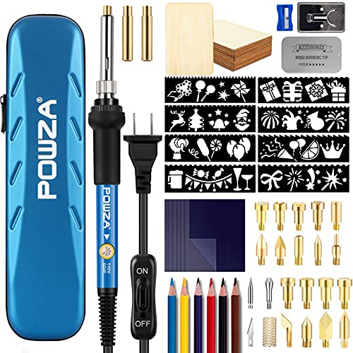 72Pcs Wood Burning Kit for Beginners, Adjustable Professional Wood Burner Pen Tool and Accessories, woodburning Embossing Carving