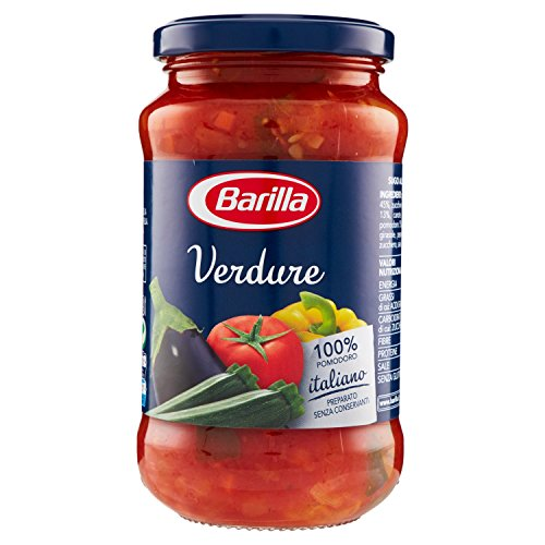 Barilla Sugo alle Verdure con Verdure Grigliate, con Peperoni, Melanzane, Zucchine e Pomodoro Italiano, Senza Glutine - 400 gr