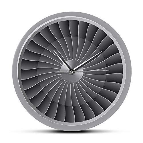 Reloj de Pared de acrílico Motor a reacción, Ventilador de