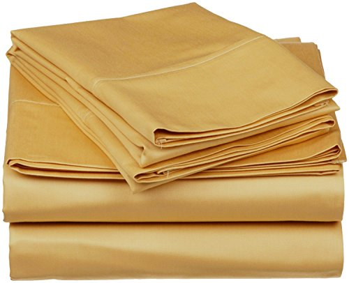 homelux beddings Homelux Signature 820 Collection Deluxe Egyptian Super-Soft Cotton Touch 4 Piece Sheet Set, Full Size, Camel