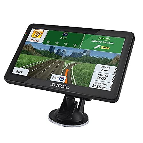 GXXDM Sat NAVS para automóviles, navegador de 7 Pulgadas, Sistema de navegación GPS, Pantalla táctil HD con mapas del Reino Unido/UE/Mundo, código Postal, búsqueda de Puntos de Inter