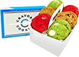 The Cravory: Santas Cookies - Assorted Christmas Holiday Cookie Snack Pack - 12 Cookies, 2.0 oz. each - 3 Flavors - Baked Fresh - Gourmet Dessert, Snack or Baked Goods -Individually Wrapped