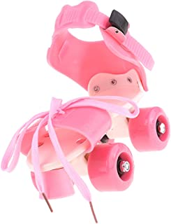 Baosity Safe 4 Wheels Roller Skates Double Rows Sliding Shoes Party Games for Boys Girls