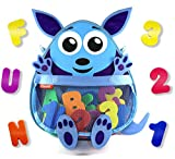 Product Image of the Bath Toy Organizer with Toys – Premium Mesh Kangaroo Bath Toy Storage Net - 36...