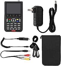ASHATA 110-240V V8 Satellite Finder HD DVB-S Satellite Finder MPEG-2 MPEG-4 Locator Satellite Signal Meter TV Receiver for Home, Wilderness, or Camping,Black(US)