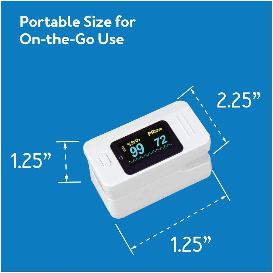 Roscoe Finger Pulse Oximeter Oxygen Monitor - Oxygen Saturation Monitor Fingertip - for Sport and Aviation Use