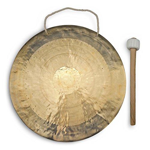 Feng Gong/Wind Gong 50 cm mit tollem Klang, inklusiv Holz-/ Baumwollklöppel -7008-