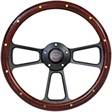 Fits Chevy Pick-Up Truck 1974 to 1994 Real Wood Steering Wheel Kit Silverado, C10, CK