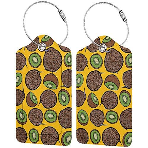 Kiwi Etiquetas para equipaje de fiesta, maleta, portabicicletas de equipaje con correas...