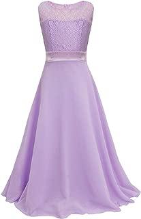 Big Girls Chiffon Lace Party Wedding Bridesmaid Dress Junior Maxi Dance Ball Gown