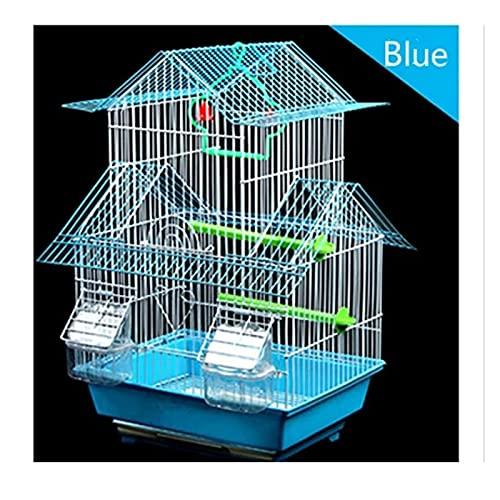 Parrot de jaulas de pájaros Jaula de pájaros Tigre Piel Parrot Jaula de la jaula de la gran villa Jaulas de pájaros para el hierro Cultivo de loros Pájaros Pájaros Grandes Jaula de pájaros Para las co