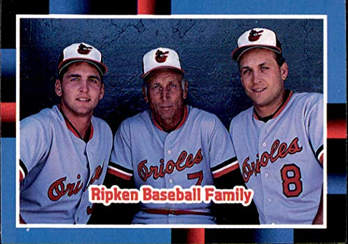 1988 Donruss #625 The Ripken Family ORIOLES Cal Billy MLB Baseball Trading Card (Sku7JLa)