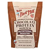 Bobs Red Mill Chocolate Protein Powder Nutritional Booster - 16 oz - Case of 4 - Gluten Free - Dairy Free - Vegan