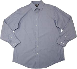 Kirkland Mens Size X-Large 17-34/35 Long Sleeve Tailored Fit Dress Shirt, Blue