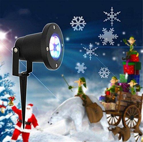 REDOI All'aperto impermeabile fiocco di neve lampada proiettore LED Snow Lanterna inserto lampada da neve vacanza regalo lampada