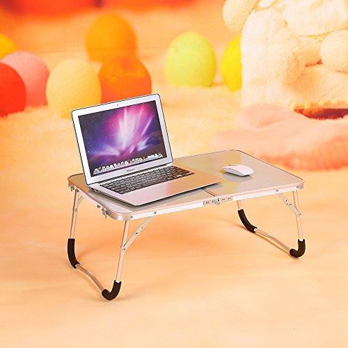SOULONG Mesa de Ordenador Plegable para Cama Mesa PC Informática Ligero portátil Bandeja de Desayuno Multifuncional Soporte Ordenador para Etudier y travailler