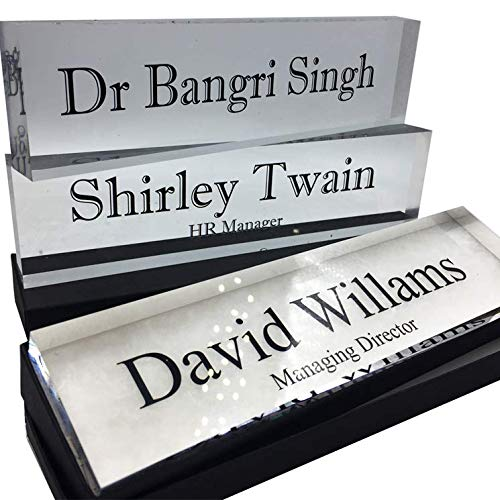 Name Plate | Acrylic Block 20mm | 200mm x 50mm