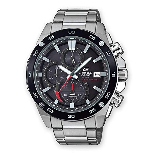 CASIO Herren Chronograph Solar Uhr mit Edelstahl Armband EFS-S500DB-1AVUEF