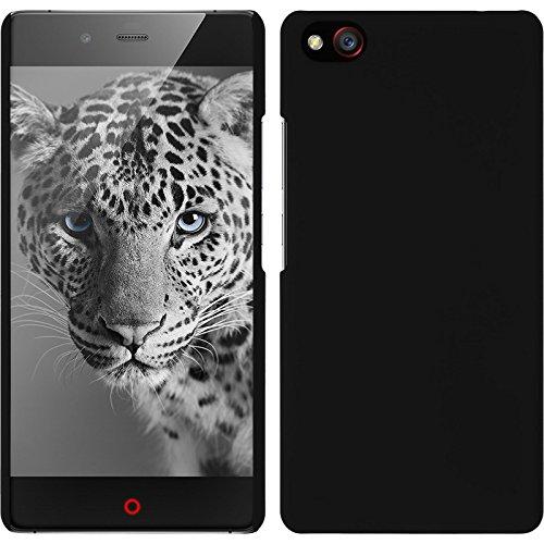 PhoneNatic Hülle für ZTE Nubia Z9 Mini Hülle schwarz gummiert Hard-case für Nubia Z9 Mini + 2 Schutzfolien