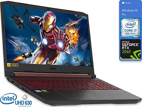 Acer Nitro 5 Gaming Laptop, 15.6' FHD Display, Intel Core i7-9750H Upto 4.5GHz, 16GB RAM, 512GB NVMe SSD, NVIDIA GeForce RTX 2060, HDMI, Wi-Fi, Bluetooth, Windows 10 Pro