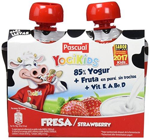 Yogur Pascual Yogikids De Fresa Para Llevar Duo 2X80G Caja De 9 Packs