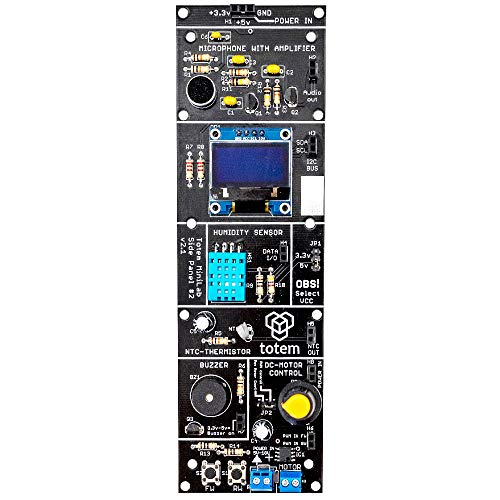 Panel Lateral de Sensor Tótem. Placa de Extensión para Proyectos Arduino en Protoboard