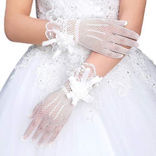 unknows Hero-s Moda Novia Vestido de Novia Guantes de Encaje Flores Grandes...