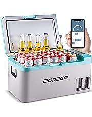 BODEGA 12 Volt Car Refrigerator, Portable Freezer, Car Fridge Single Zone APP Control, 20 Quart(18L)-4℉-68℉ RV Electric Compressor Cooler 12/24V DC and 100-240V AC, for Outdoor, Camping, Travel, Sky Blue