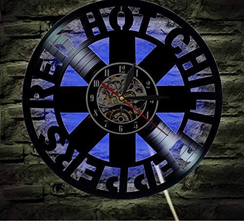 CHENFANGYUAN Red Hot Chili Peppers Disco De Vinilo Reloj De Pared Ventilador Regalo Decoración del Hogar Habitación Arte